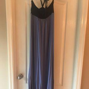 Splendid, Color block halter maxi dress